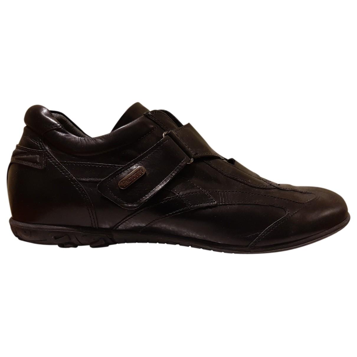 Cesare Paciotti - Baskets   pour homme en cuir - noir