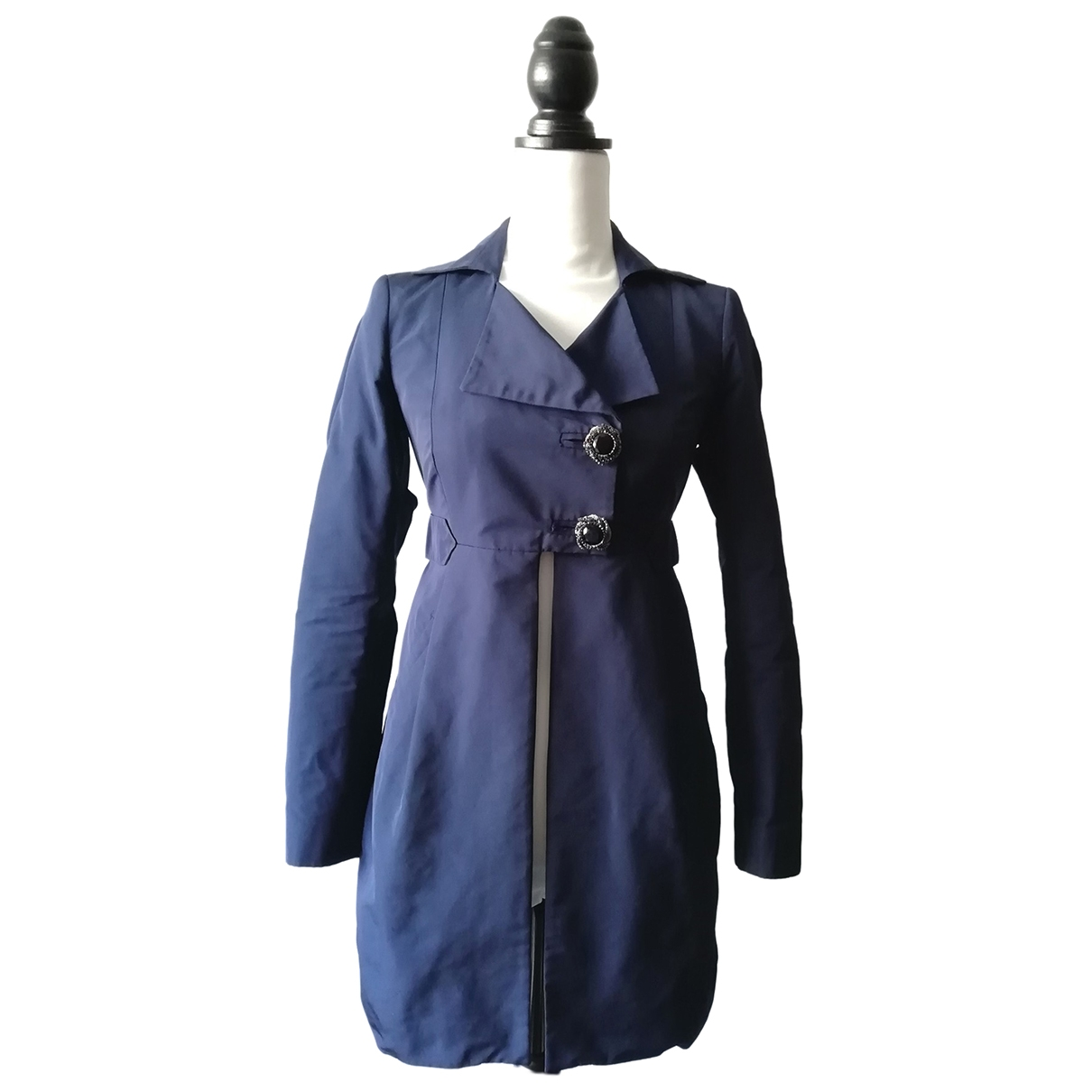 Pinko \N Trench in  Blau Polyester