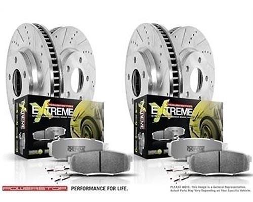 Power Stop K1122-26 Z26 Street Warrior Brake Kit Front & Rear K1122-26