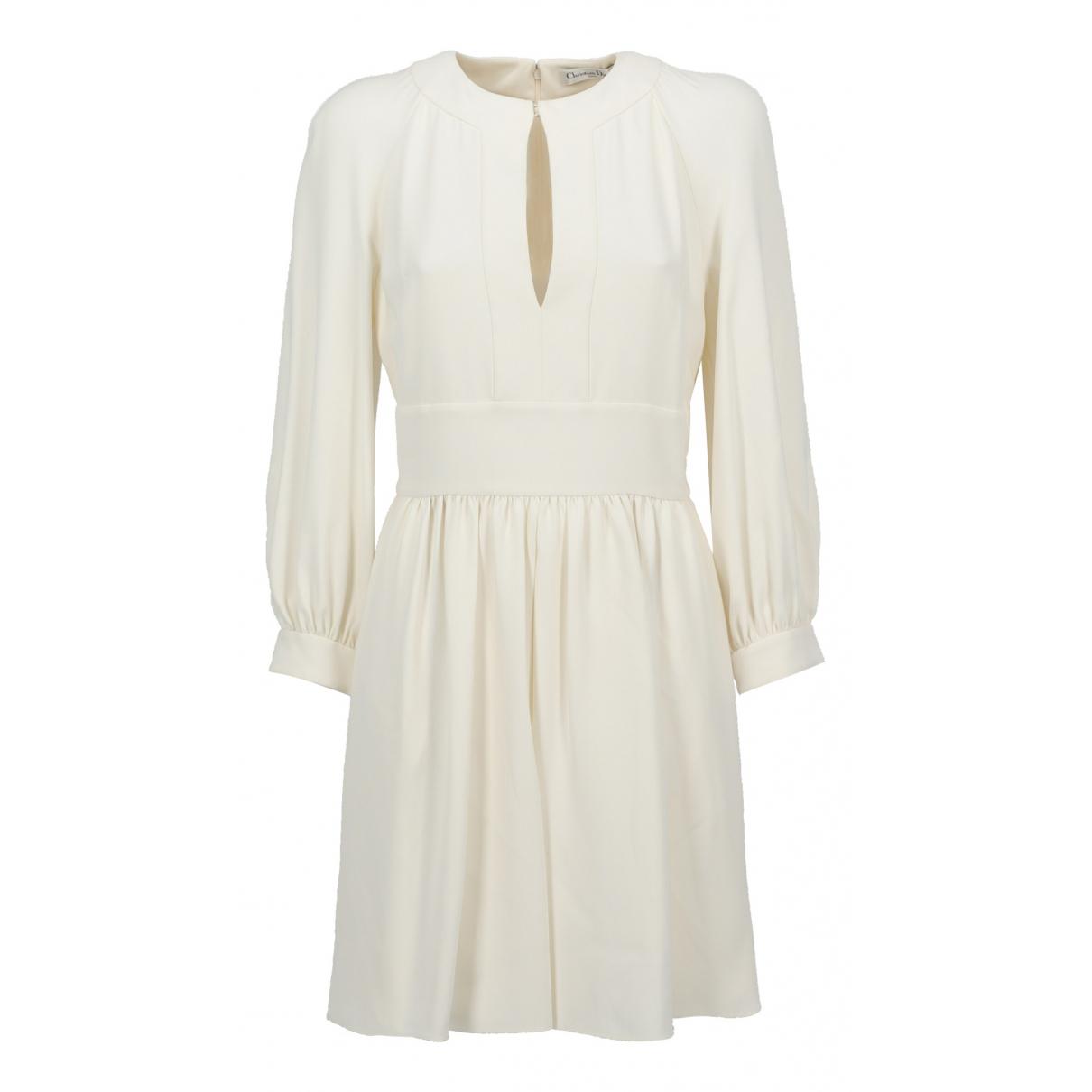 Dior N Ecru Silk dress for Women 38 FR