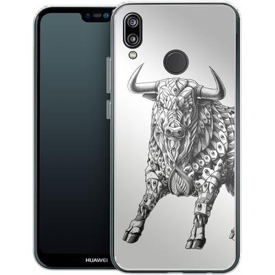 Huawei P20 Lite Silikon Handyhuelle - Raging Bull von BIOWORKZ
