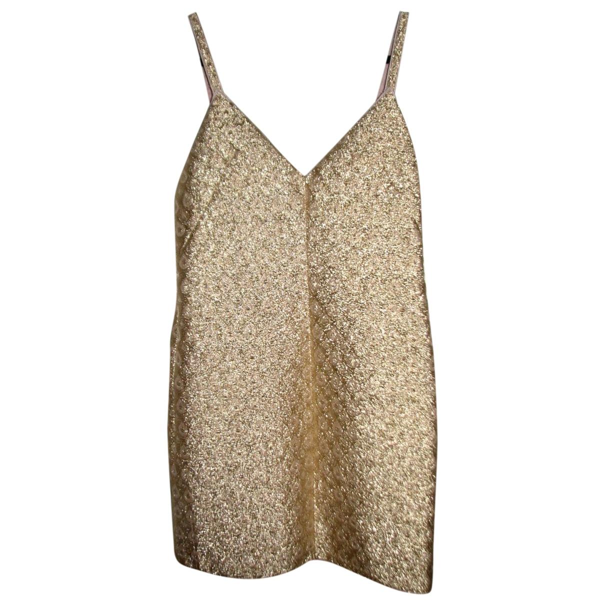 N°21 \N Kleid in  Gold Mit Pailletten