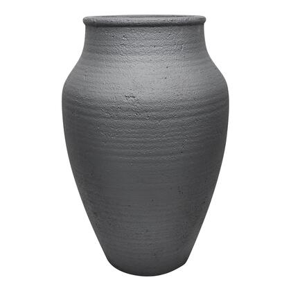 Voz Collection VZ-1007-02 Vase with Cement Material in Black