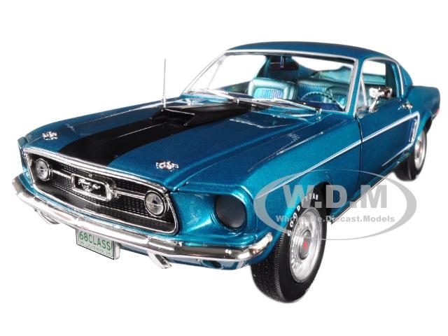 1968 Ford Mustang GT 22 Aqua Blue