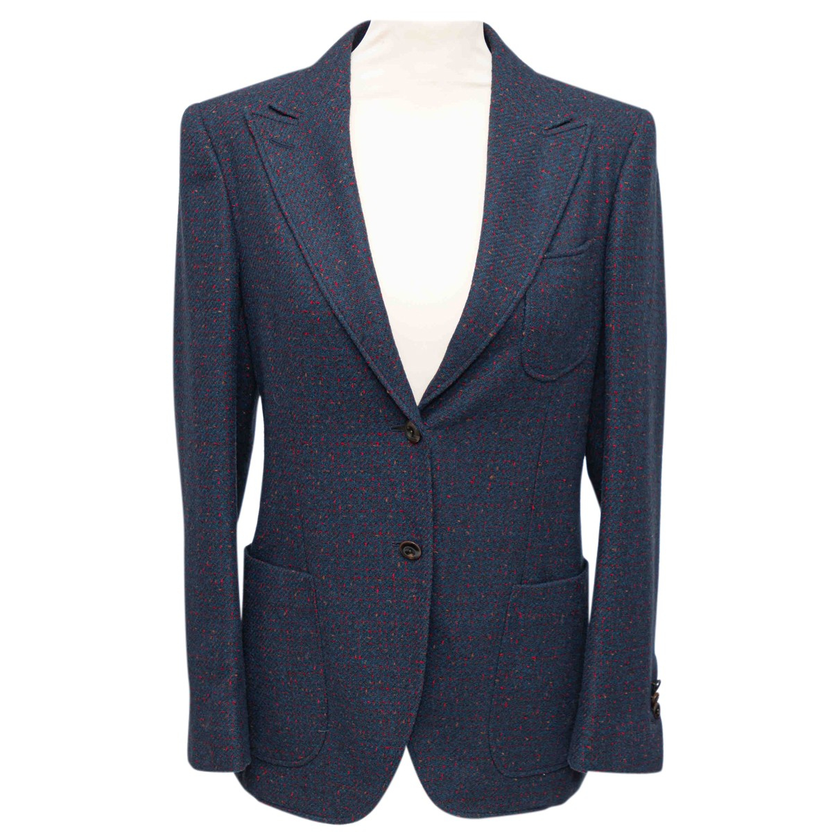 Boglioli N Blue Wool jacket for Women 42 IT