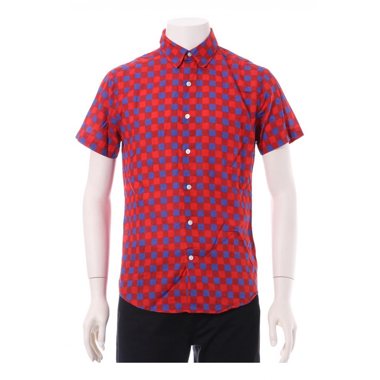 Louis Vuitton - Chemises   pour homme en coton - rouge