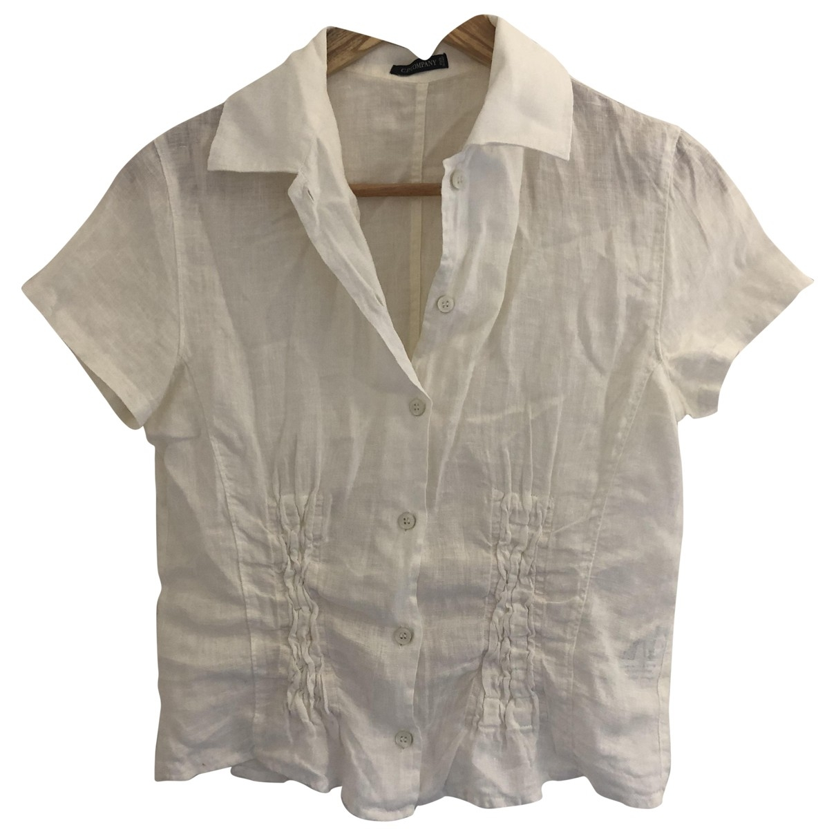 Cp Company \N White Linen  top for Women 42 IT