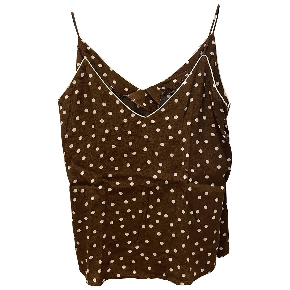 Zara \N Brown  top for Women 38 FR