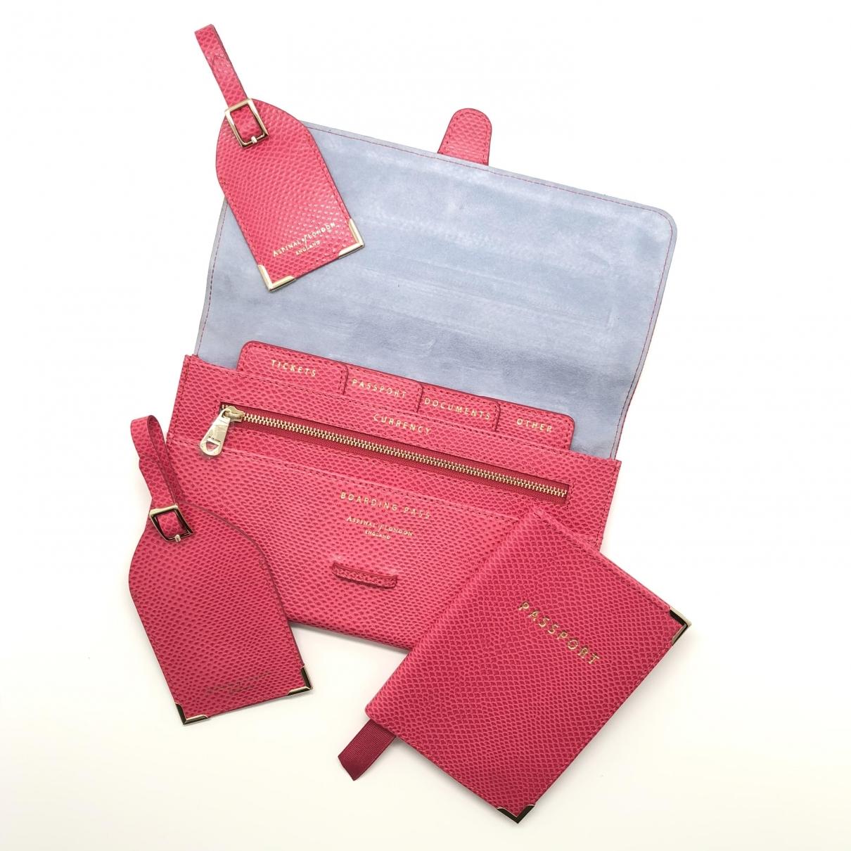 Aspinal Of London - Sac de voyage   pour femme en cuir - rose