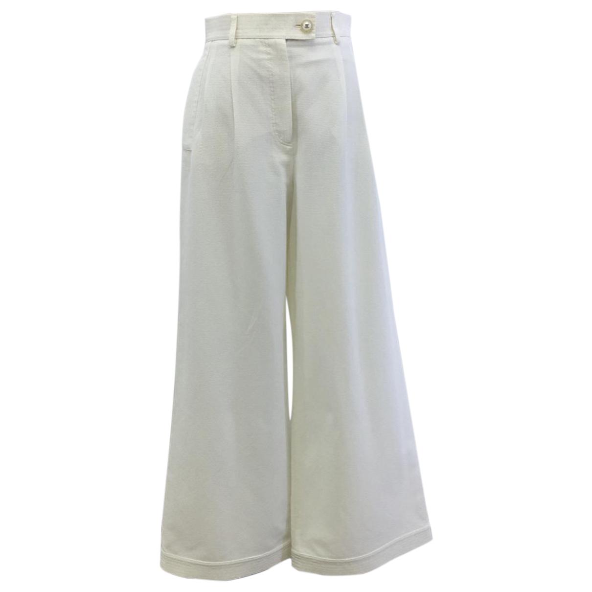 Chanel N Ecru Trousers for Women 38 FR