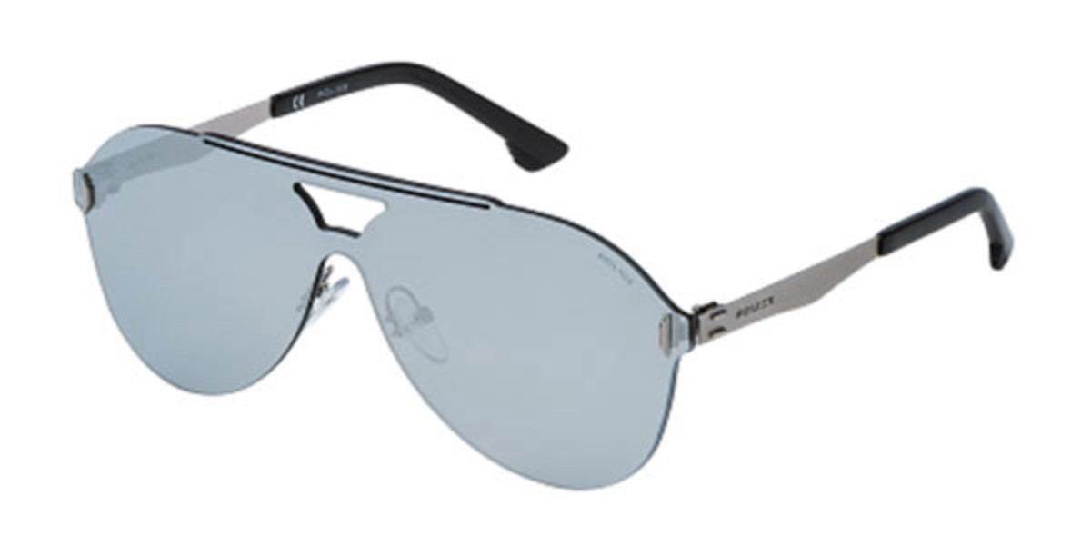 Police SPL339 FLOW 1 581X Men's Sunglasses Blue Size 99