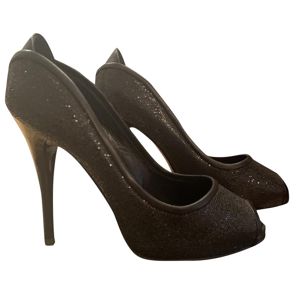 Giuseppe Zanotti - Escarpins   pour femme en cuir - noir