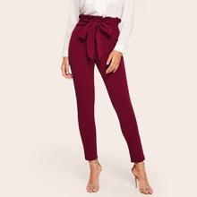 Pantalones de cintura con volante