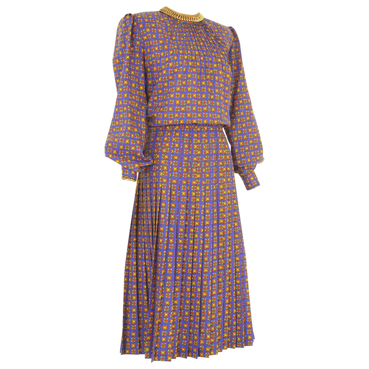 Non Signe / Unsigned \N Kleid in  Lila Wolle