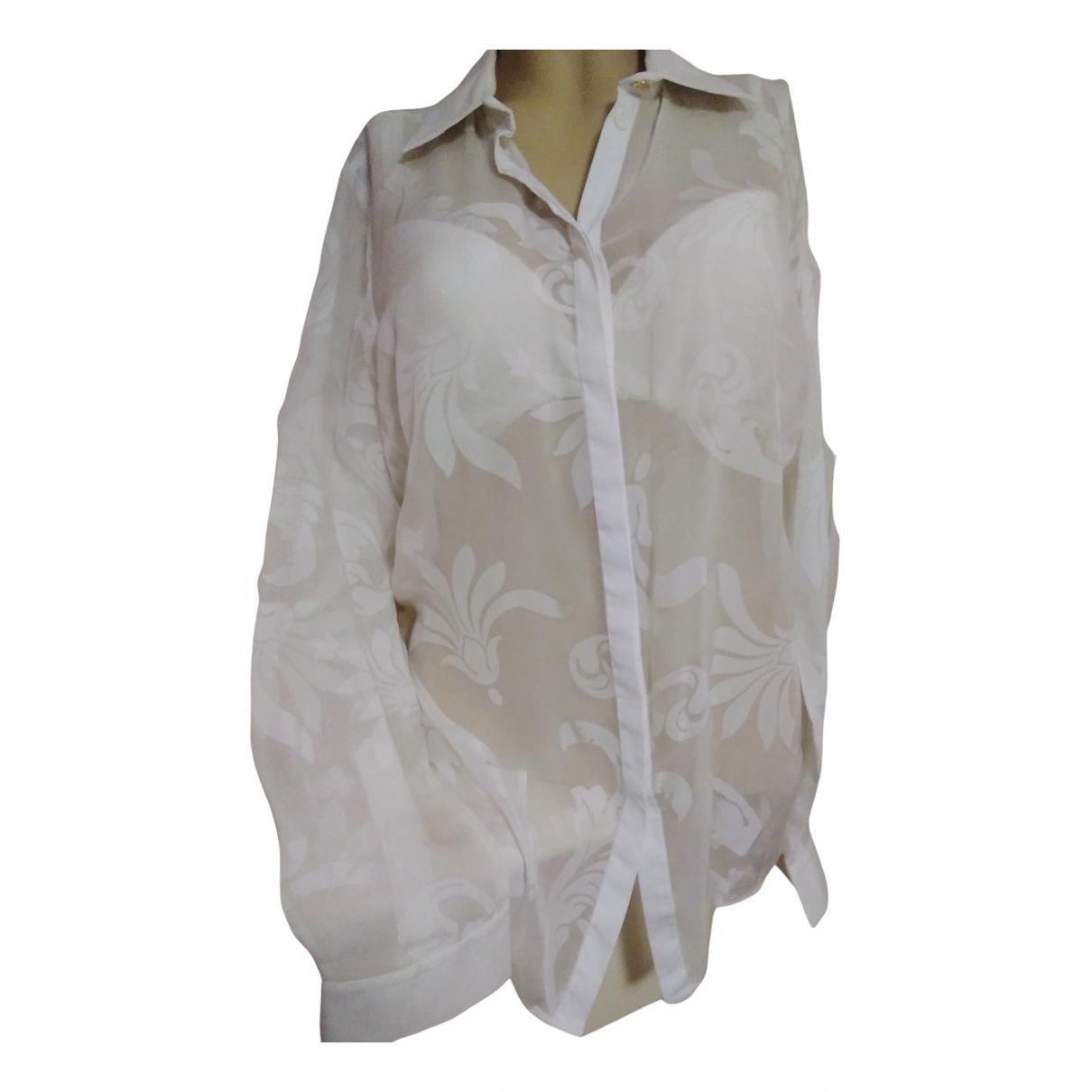 Versace - Top   pour femme en soie - blanc