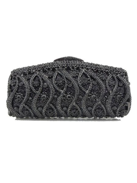 Milanoo Evening Clutch Bags Rhinestone Rhinestones Geometric Magnetic Snap Closure Wedding Handbag