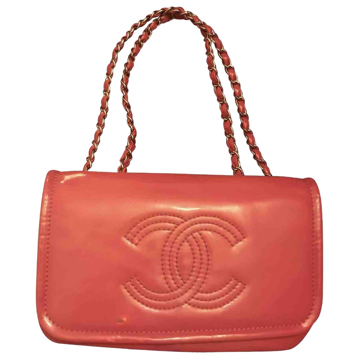 Chanel \N Pink Patent leather handbag for Women \N