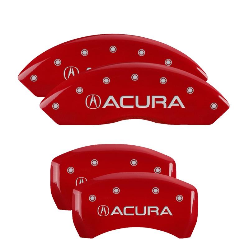 MGP Caliper Covers 39014SACURD Set of 4: Red finish, Silver Acura / Acura Acura RLX 2014-2017
