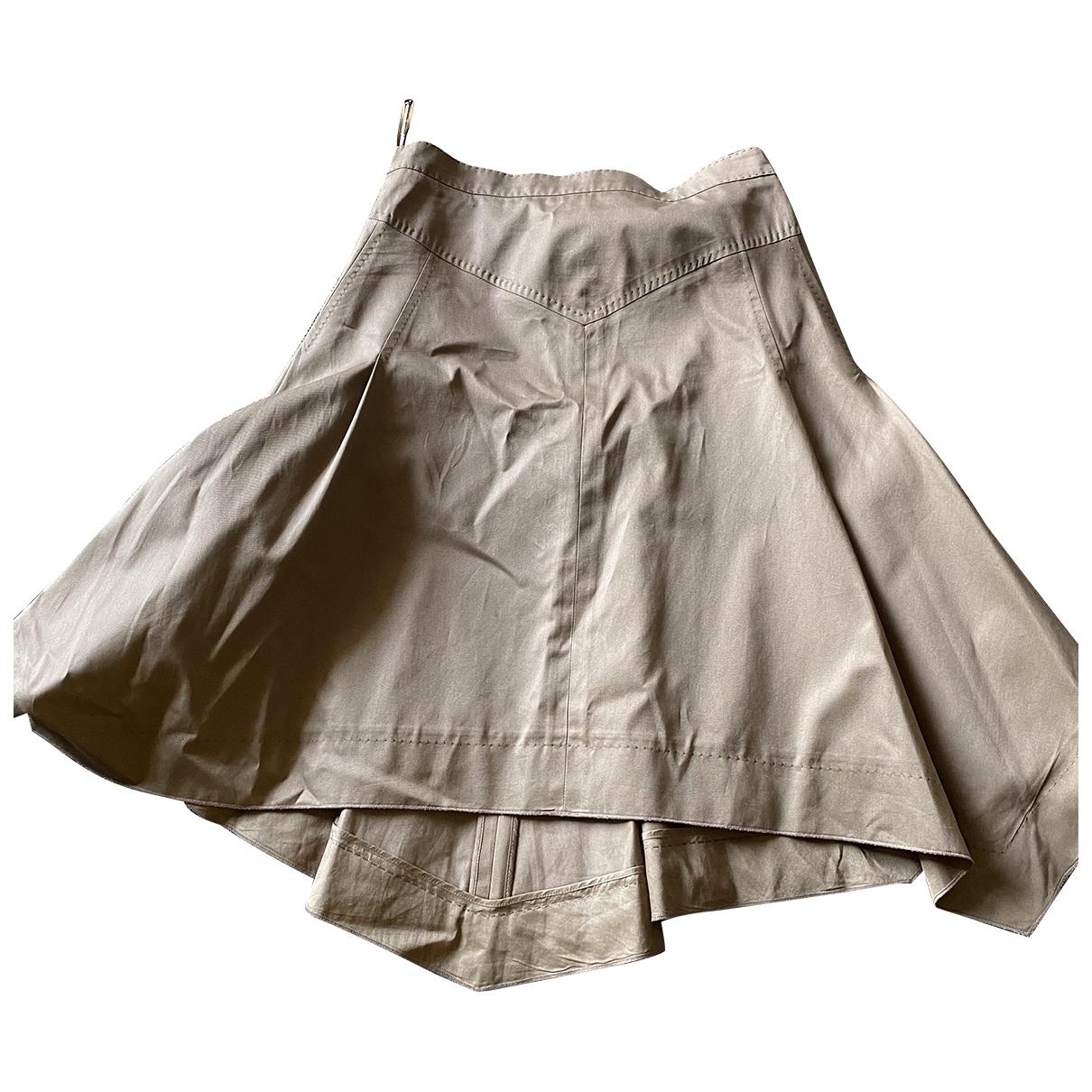 Louis Vuitton \N Rocke in  Khaki Baumwolle