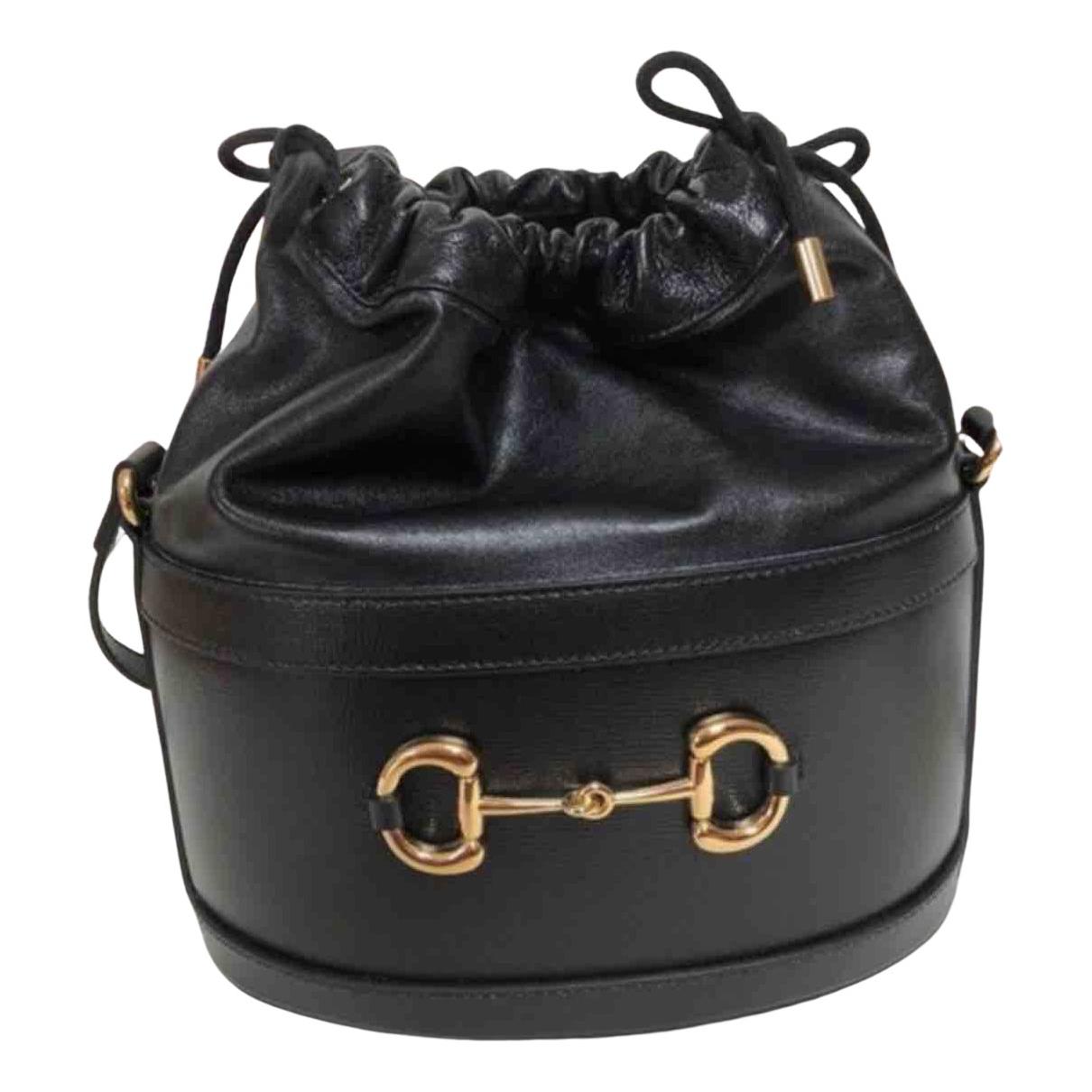Gucci - Sac a main 1955 pour femme en cuir - noir