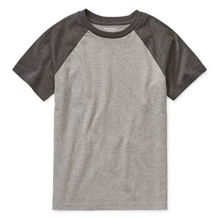 Arizona Little & Big Boys Short Sleeve T-Shirt, X-small (6-7) , Gray