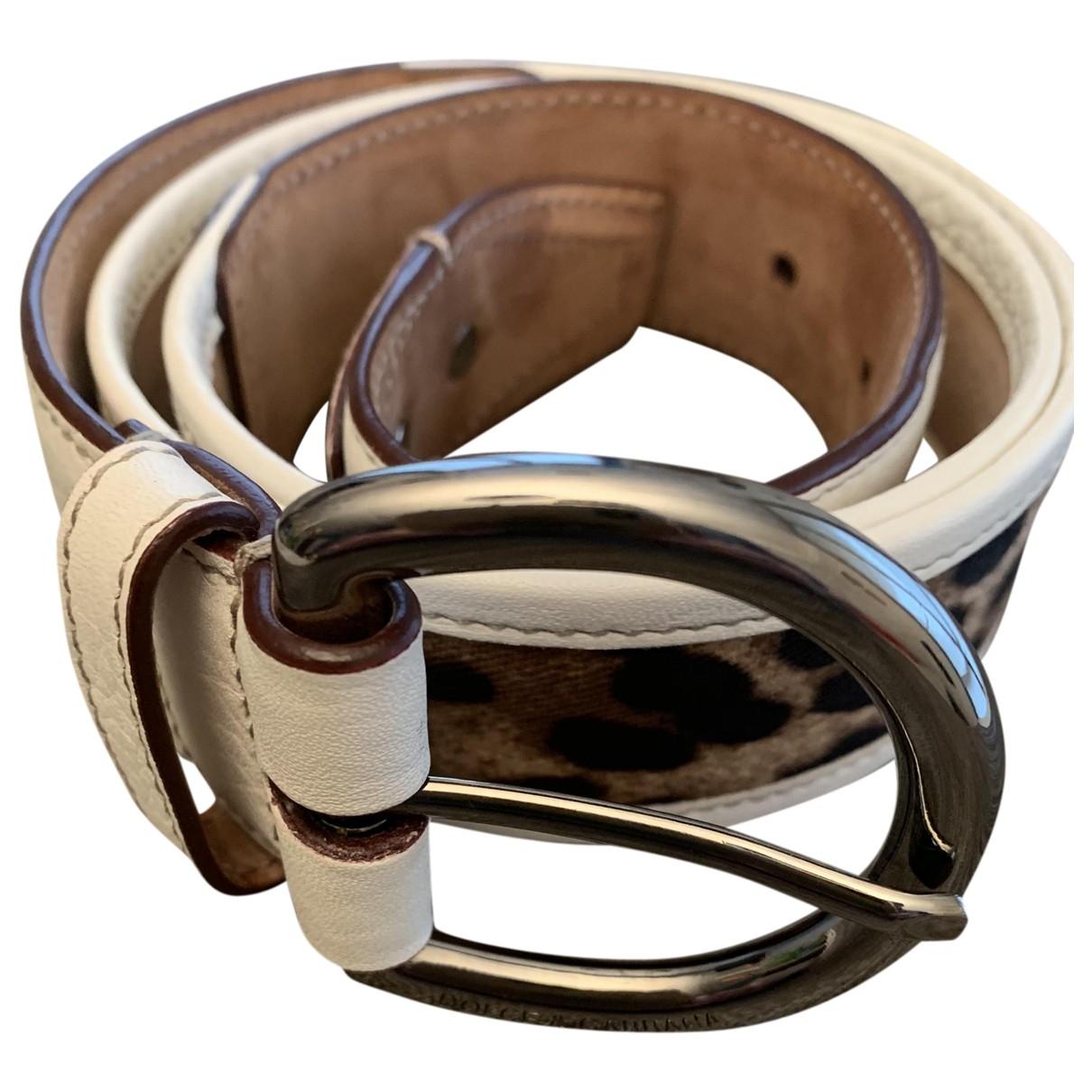 Dolce & Gabbana \N Leather belt for Women 85 cm
