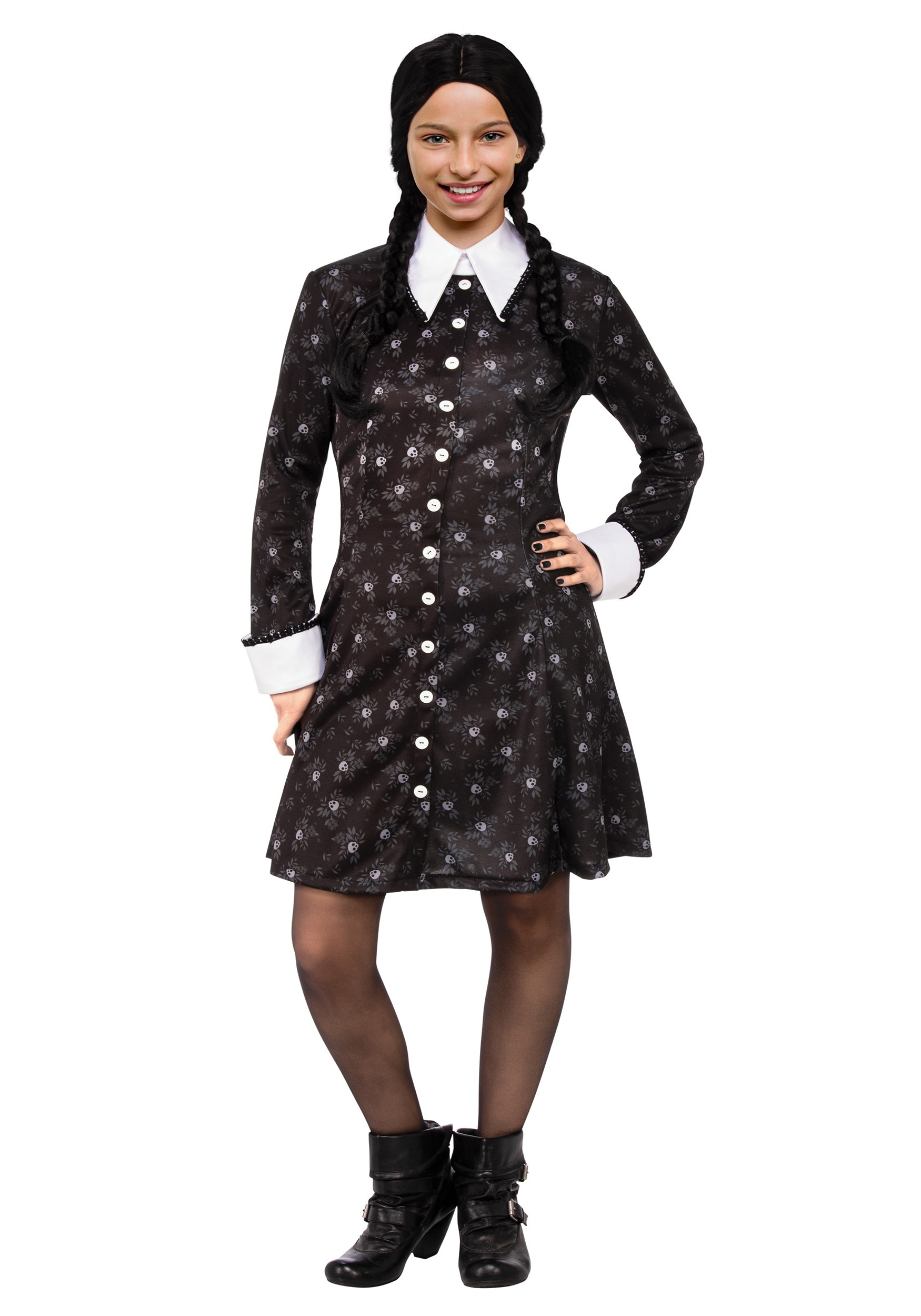 Addams Family Wednesday Costume for Girls