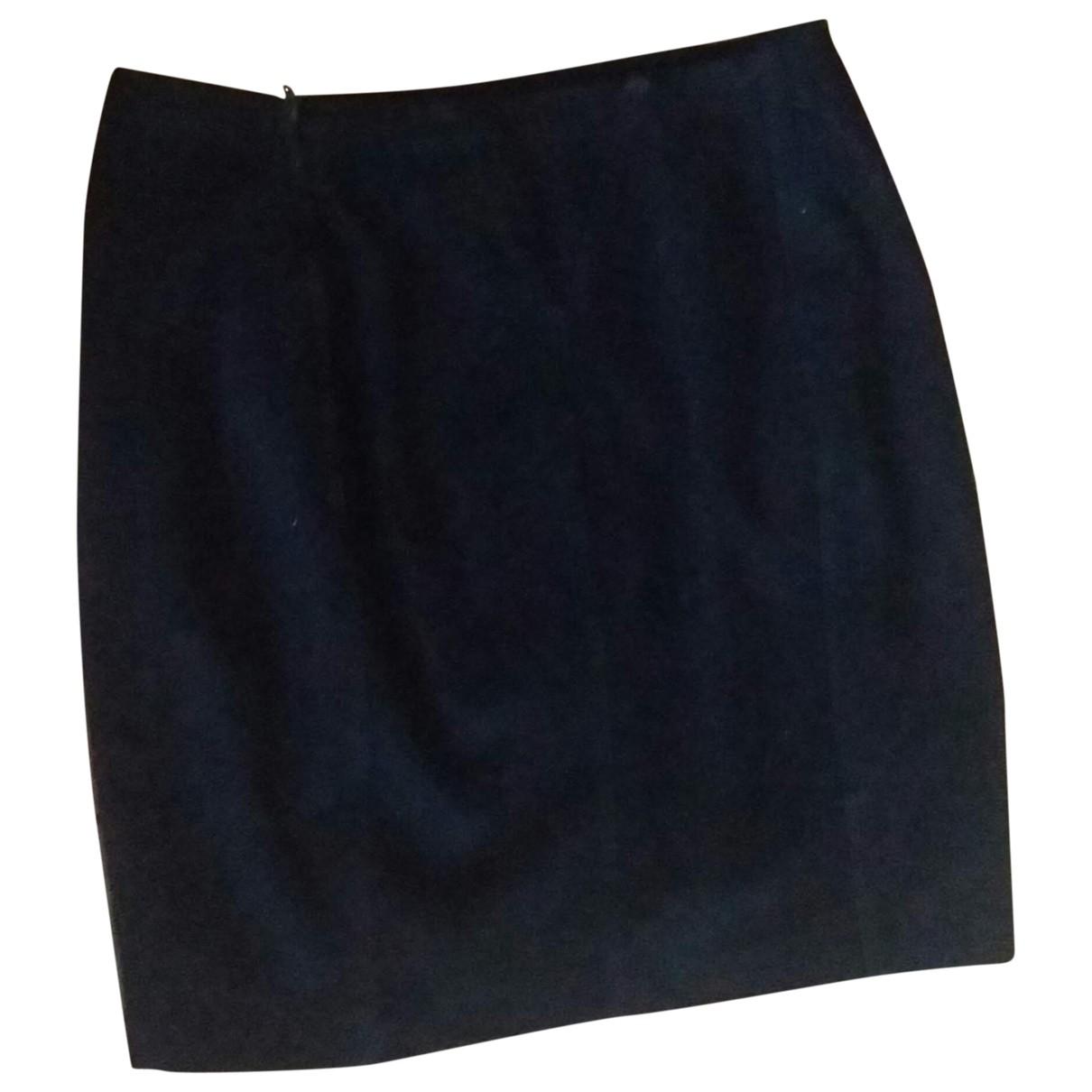 Alaïa \N Black Leather skirt for Women 38 FR