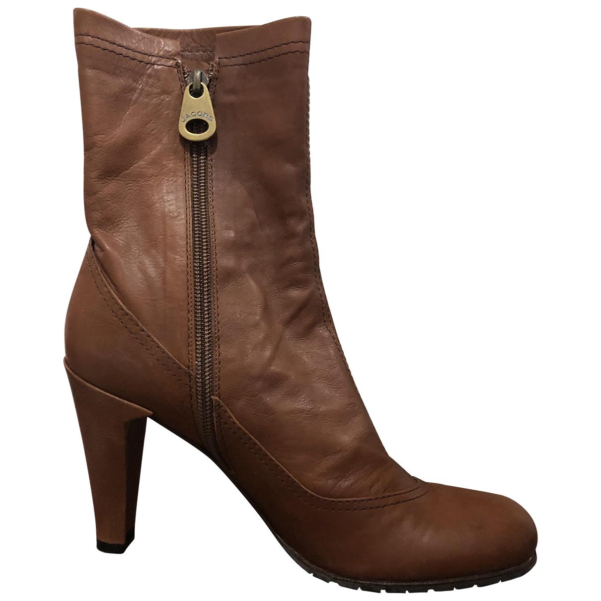 Marc Jacobs - Boots   pour femme en cuir - camel