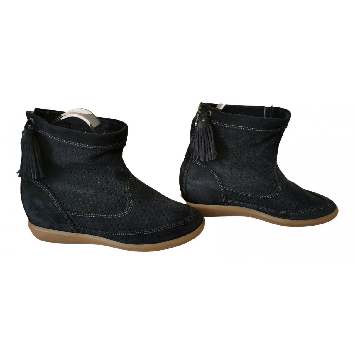 Isabel Marant - Boots Basley pour femme en suede - noir