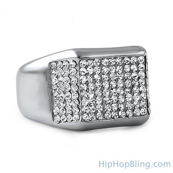 Kings Bling Bling Stainless Steel Ring