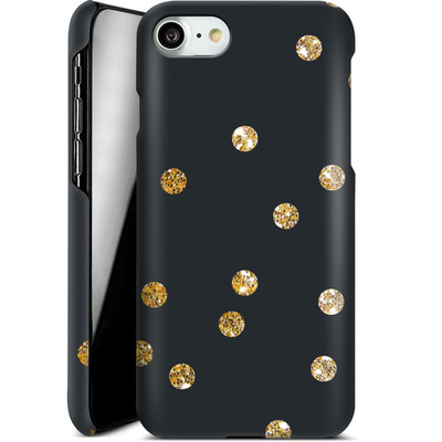 Apple iPhone 7 Smartphone Huelle - Gold Dots von Khristian Howell