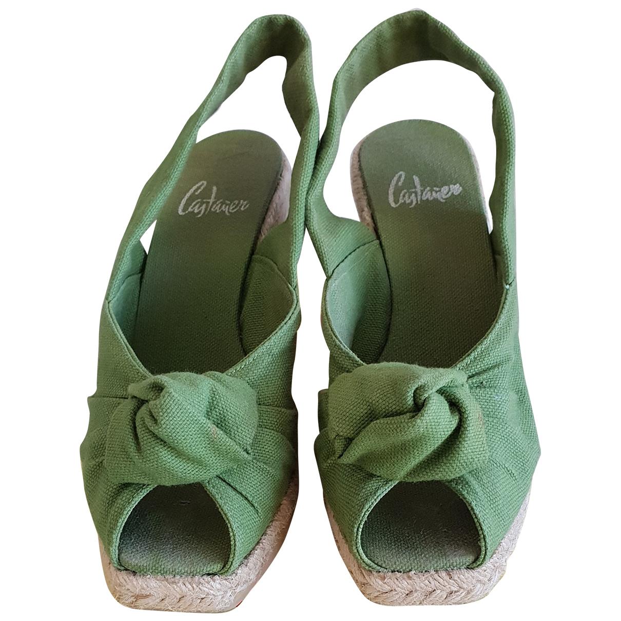 Castaner - Espadrilles   pour femme en denim - vert