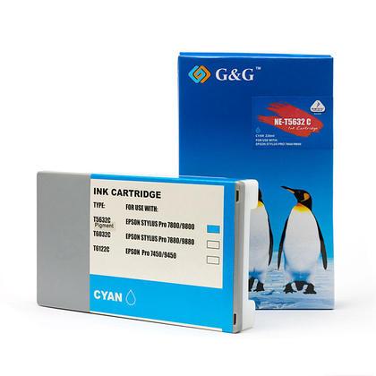 Epson T563200 T562200 cartouche d'encre compatible cyan pigment - G&G™