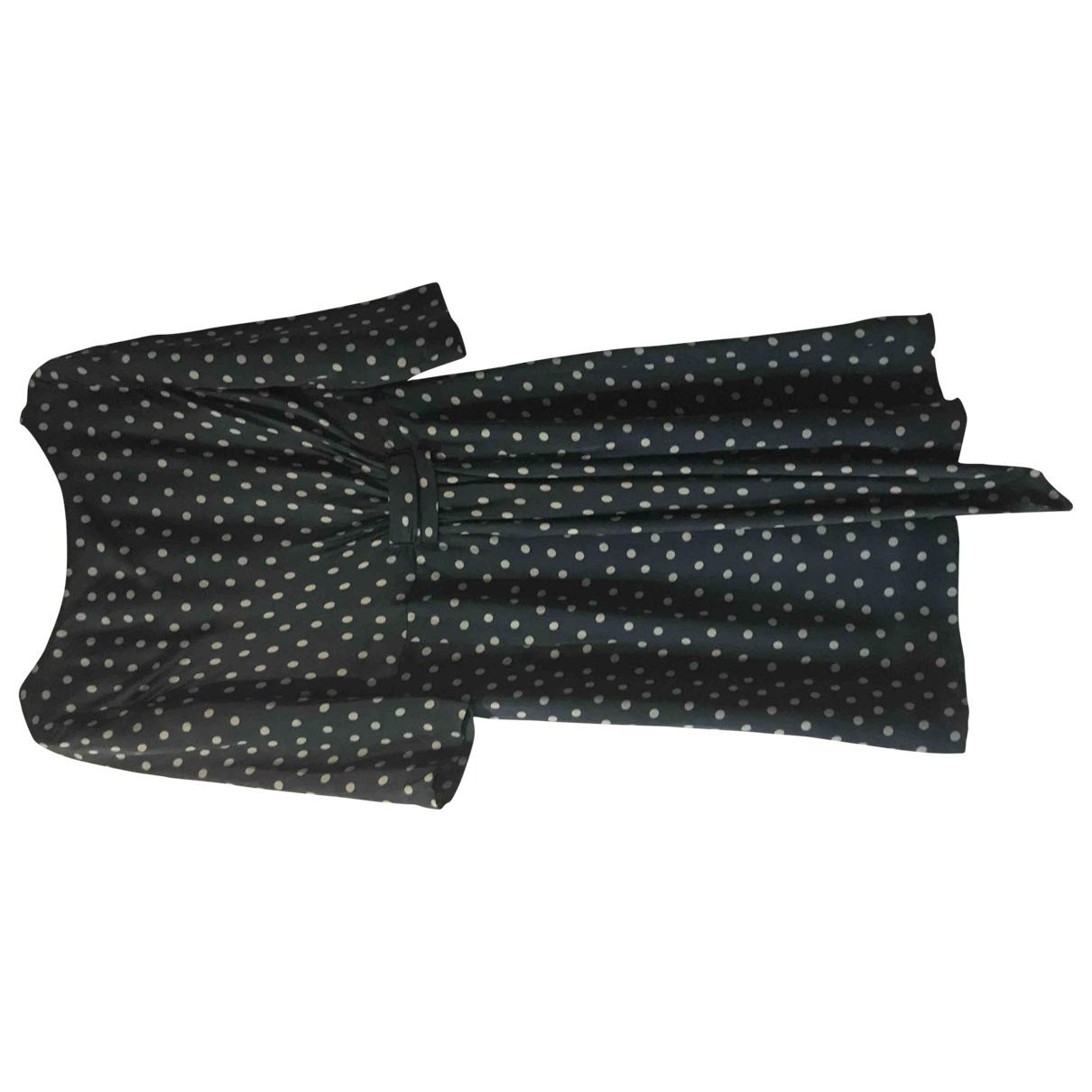 Hoss Intropia - Robe   pour femme en soie - bleu