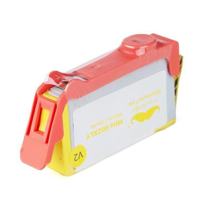 Compatible HP 902XL T6M10AN cartouche encre jaune - haut rendement de HP 902 encre jaune  - Moustache