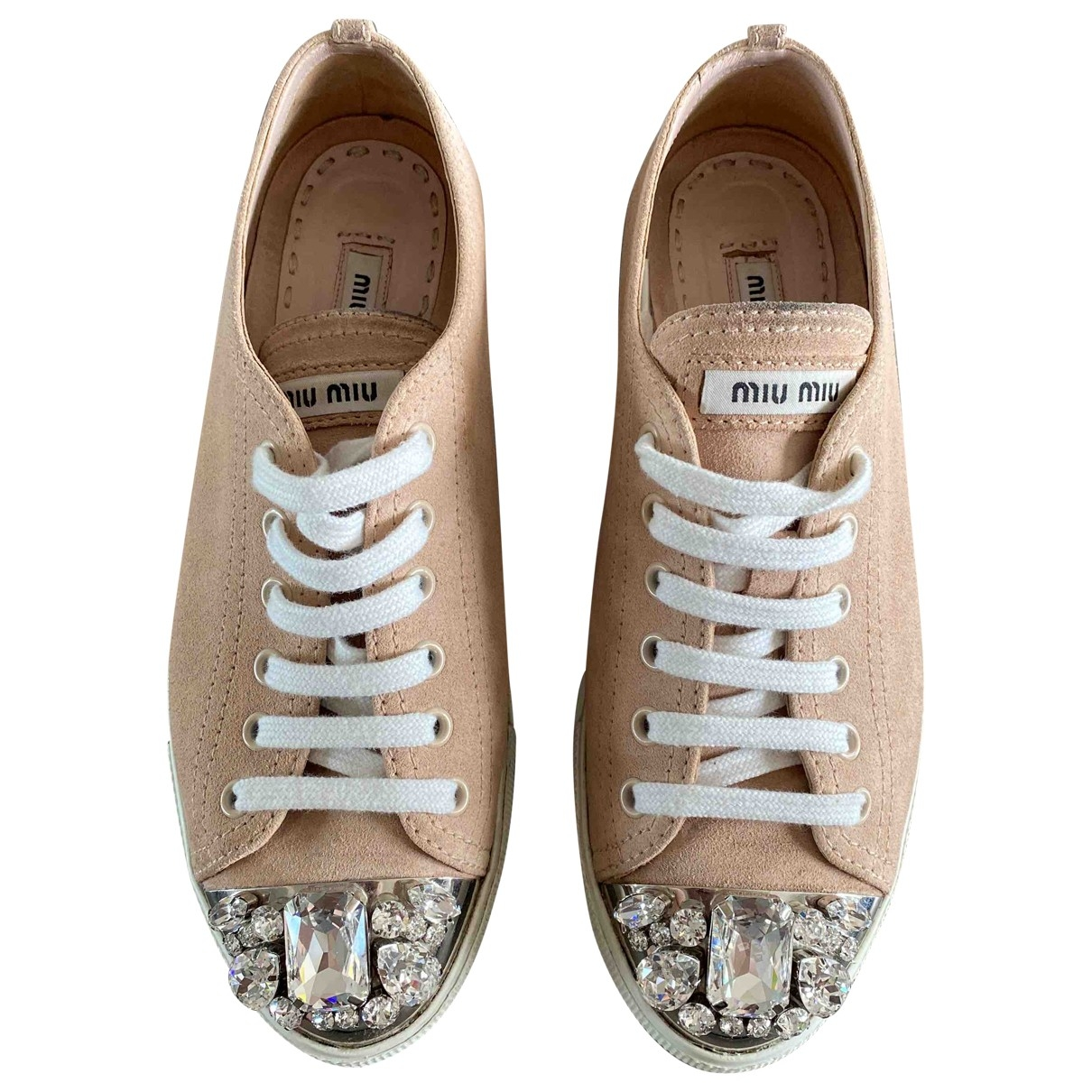 Miu Miu \N Pink Leather Trainers for Women 37.5 EU