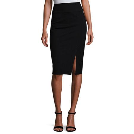 Worthington Ponte Knit Pencil Skirt, Medium , Black