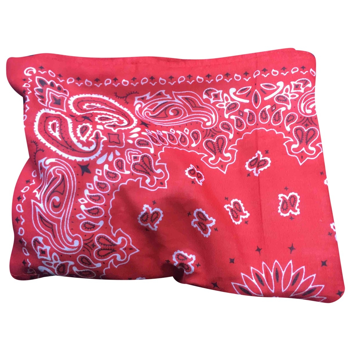 Non Signé / Unsigned Hippie Chic Red Cotton Silk handkerchief for Women \N