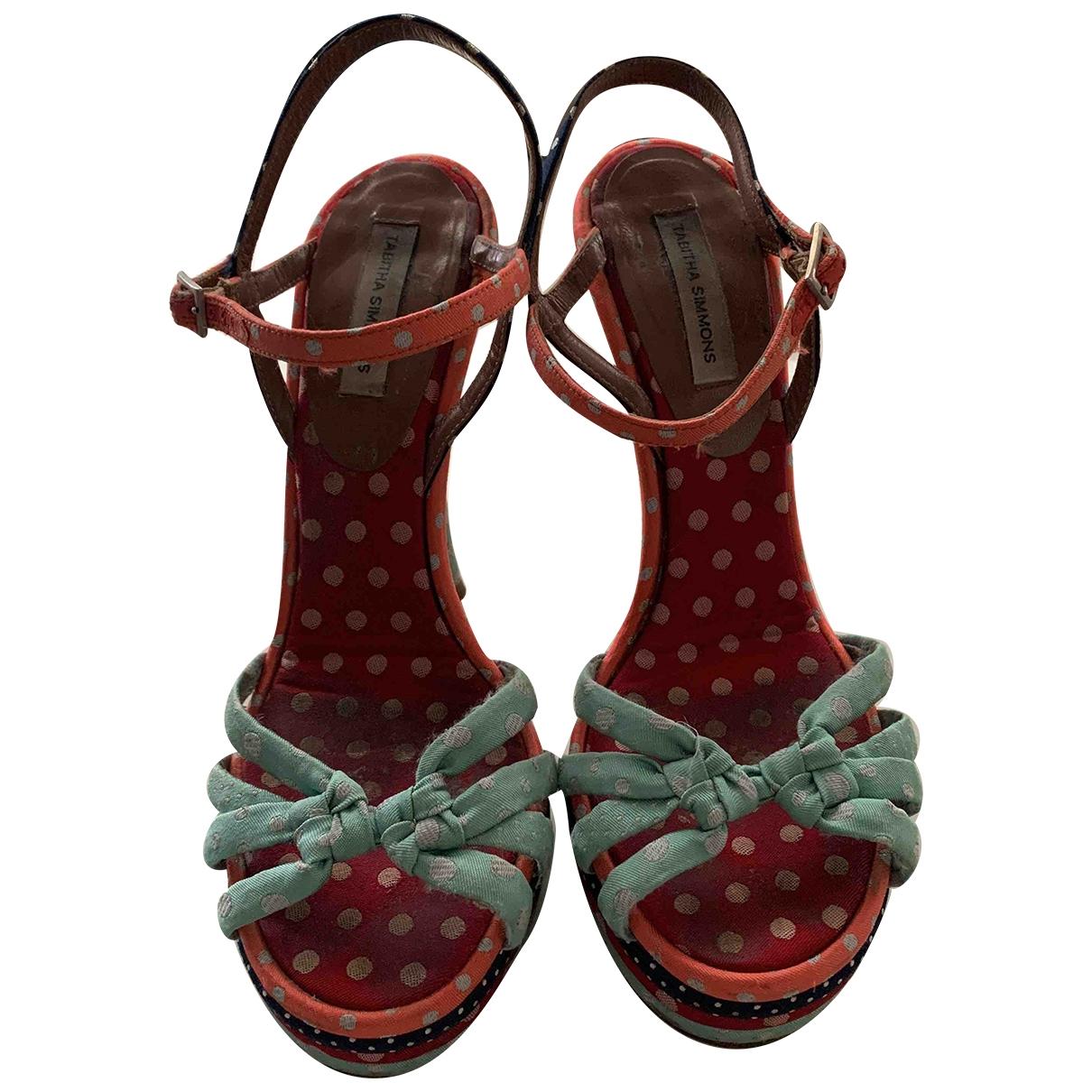 Tabitha Simmons \N Multicolour Cloth Sandals for Women 36 EU