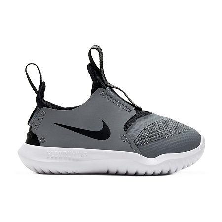 Nike Flex Runner Toddler Boys Running Shoes, 8 Medium, Gray