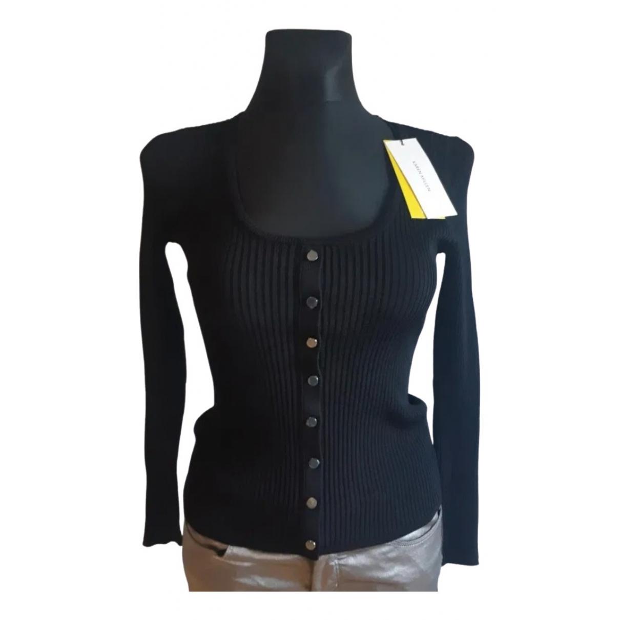 Karen Millen - Pull   pour femme en coton - noir