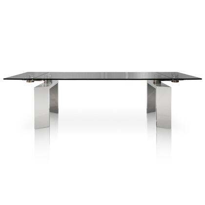 E.2402XT-3.STL Mo Collection E.2402Xt-3.Stl Extension Dining Table In Stainless