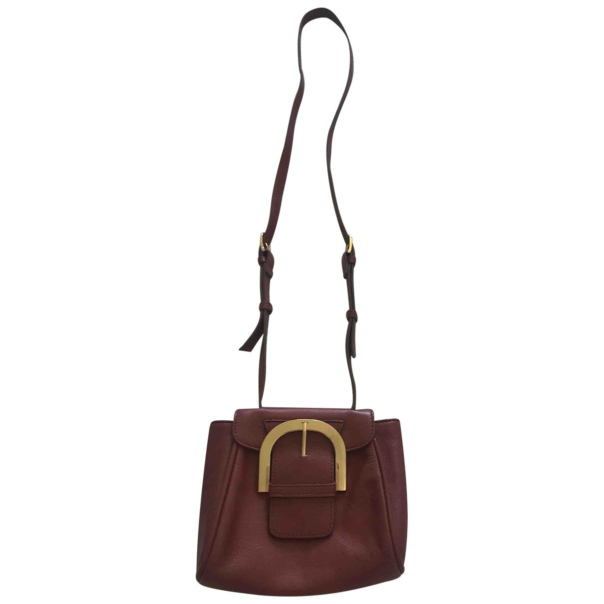 Zara \N Handtasche in  Bordeauxrot Leder