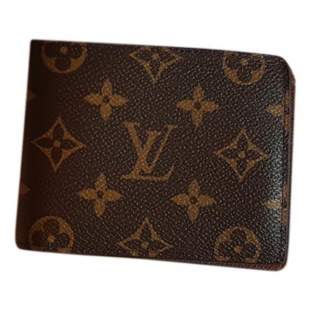 Louis Vuitton - Petite maroquinerie Multiple pour homme en toile - marron