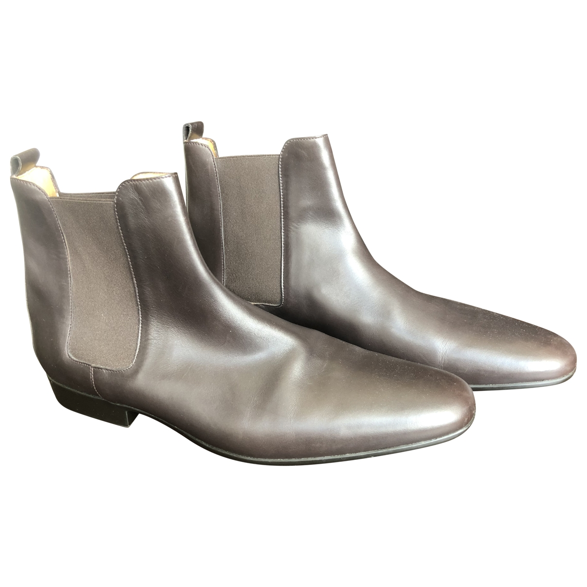 Hermès \N Brown Leather Boots for Men 44.5 EU