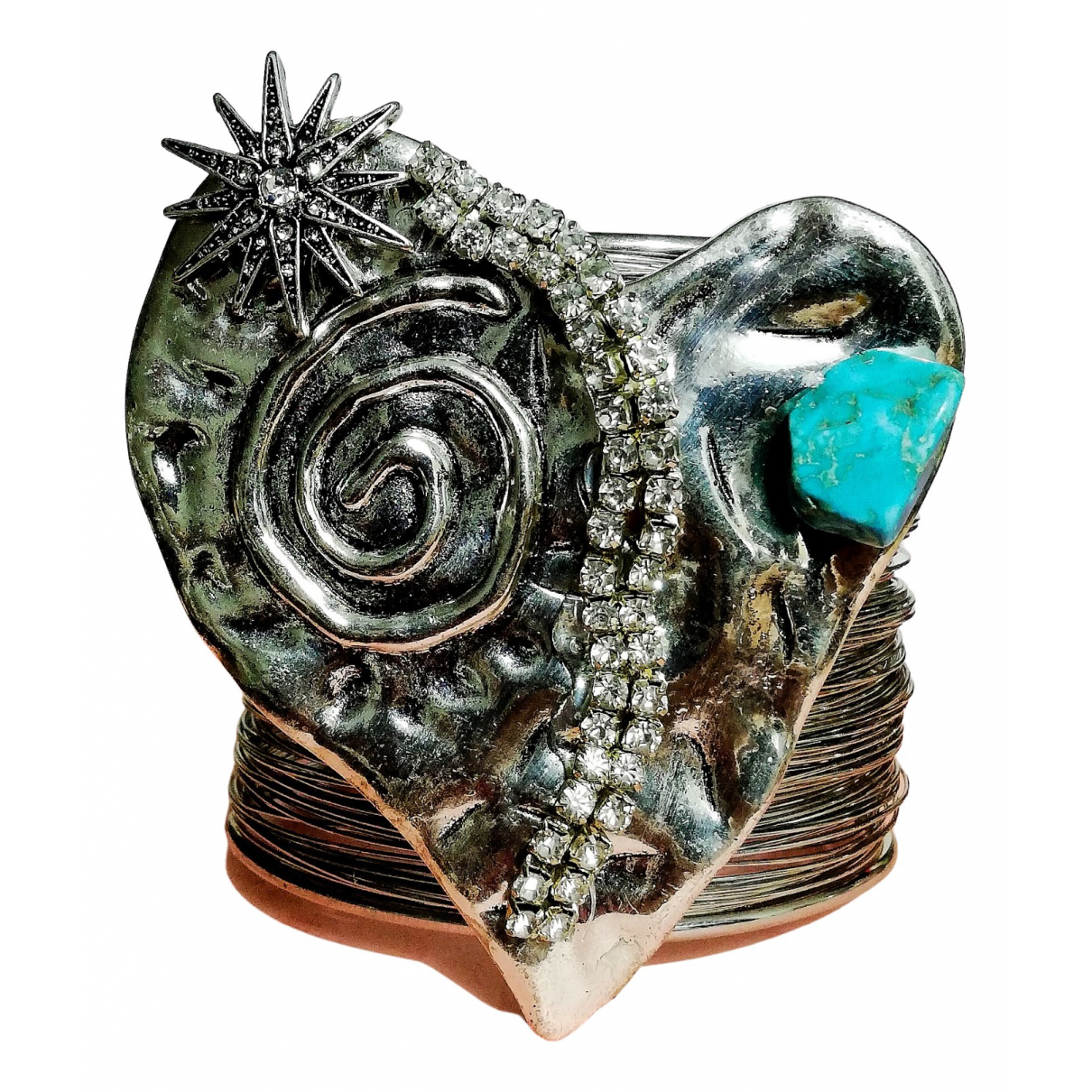 - Bracelet   pour femme en metal - argente