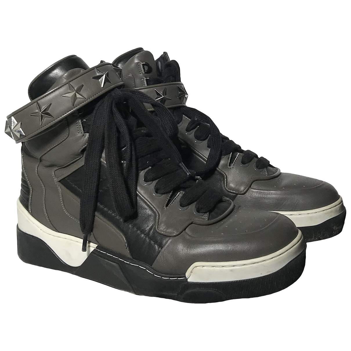 Givenchy Tyson Grey Leather Trainers for Men 43 EU