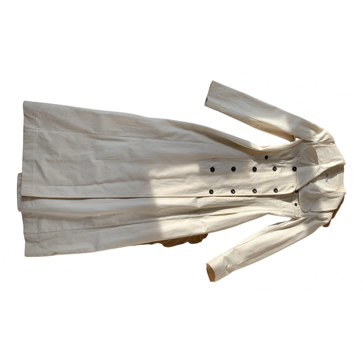 Miu Miu - Trench   pour femme en coton - blanc