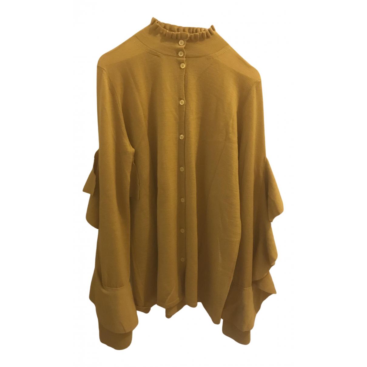 Circus Hotel N Yellow Wool Knitwear for Women 42 IT